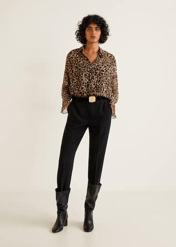 e2b77f1415134b Leopard print shirt - Women | Mango United Kingdom
