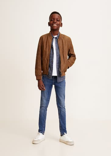 more photos 2d8ed dbfde Faux shearling bomber jacket