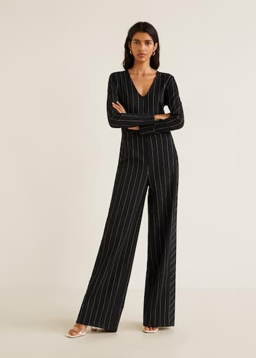 b1694beca48 Striped long jumpsuit - General plane