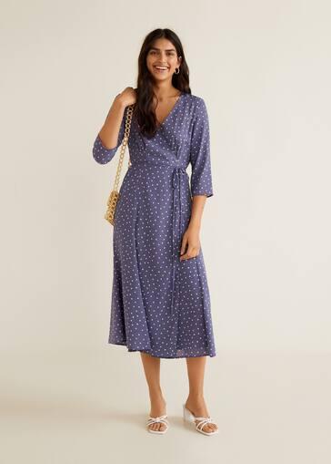 Wrap polka-dot dress - Women  3d3c0bf71