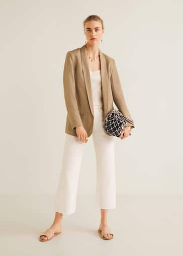 f41cb9a86 Structured linen jacket - General plane