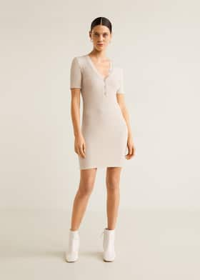 96484cec1c Tailored ribbed dress - General plane