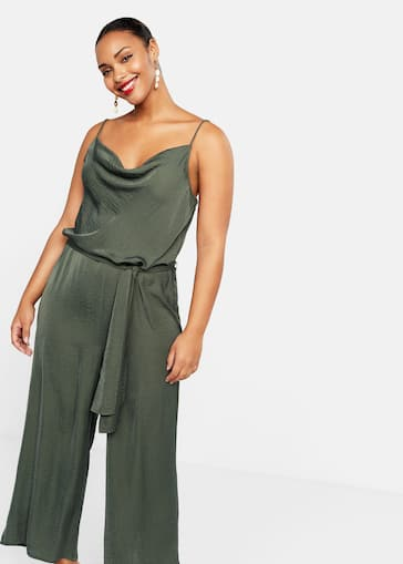 814934a51e03 Belt long jumpsuit - Plus sizes