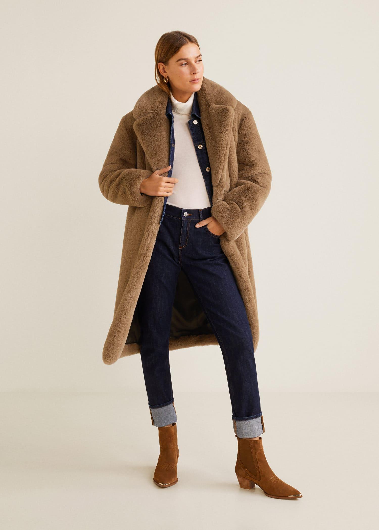 Oversize faux fur coat