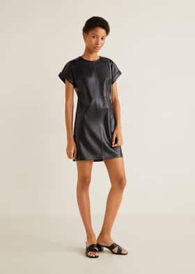 Прямое платье со строчками ed3d1698460e0