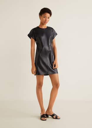 Прямое платье со строчками 64a3fd27be47a