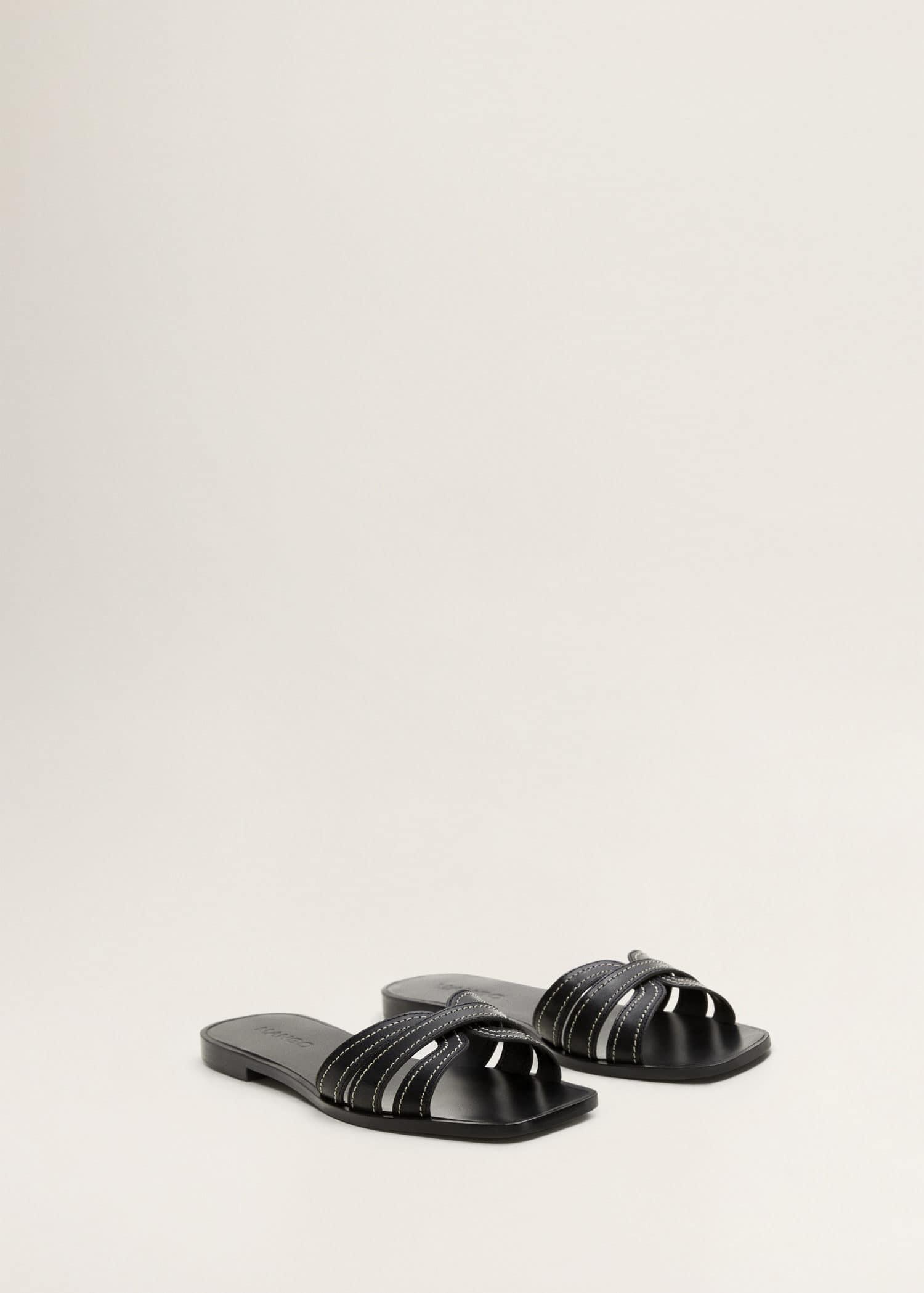 Sandals Pakistan Straps Leather Straps Leather Sandals WomanMango 8n0PkwO