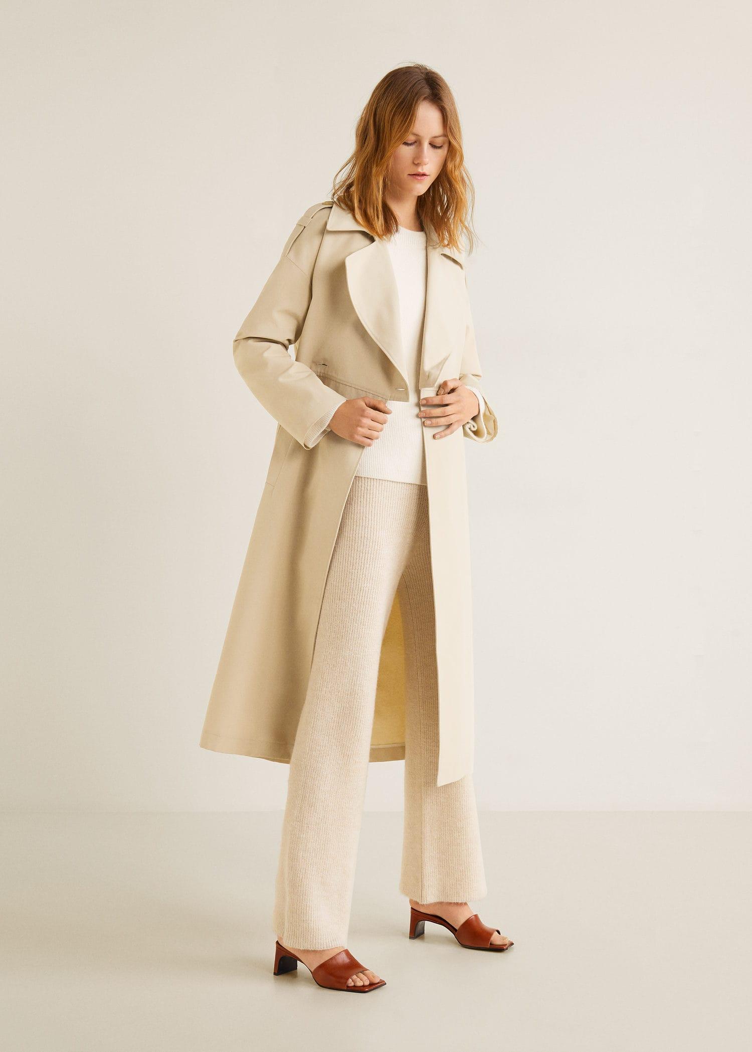 Camelfarbener mantel damen