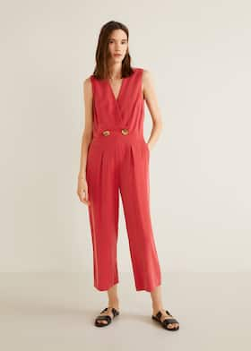 5a03cd6fa6 Buttoned long jumpsuit - General plane