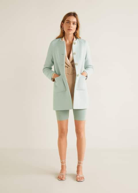 Pocket structured coat