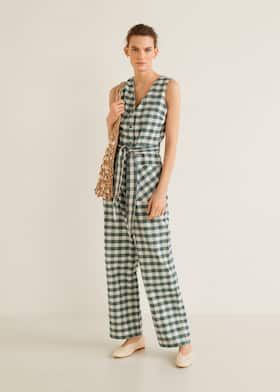 f9ce92bc688a Gingham check jumpsuit - General plane
