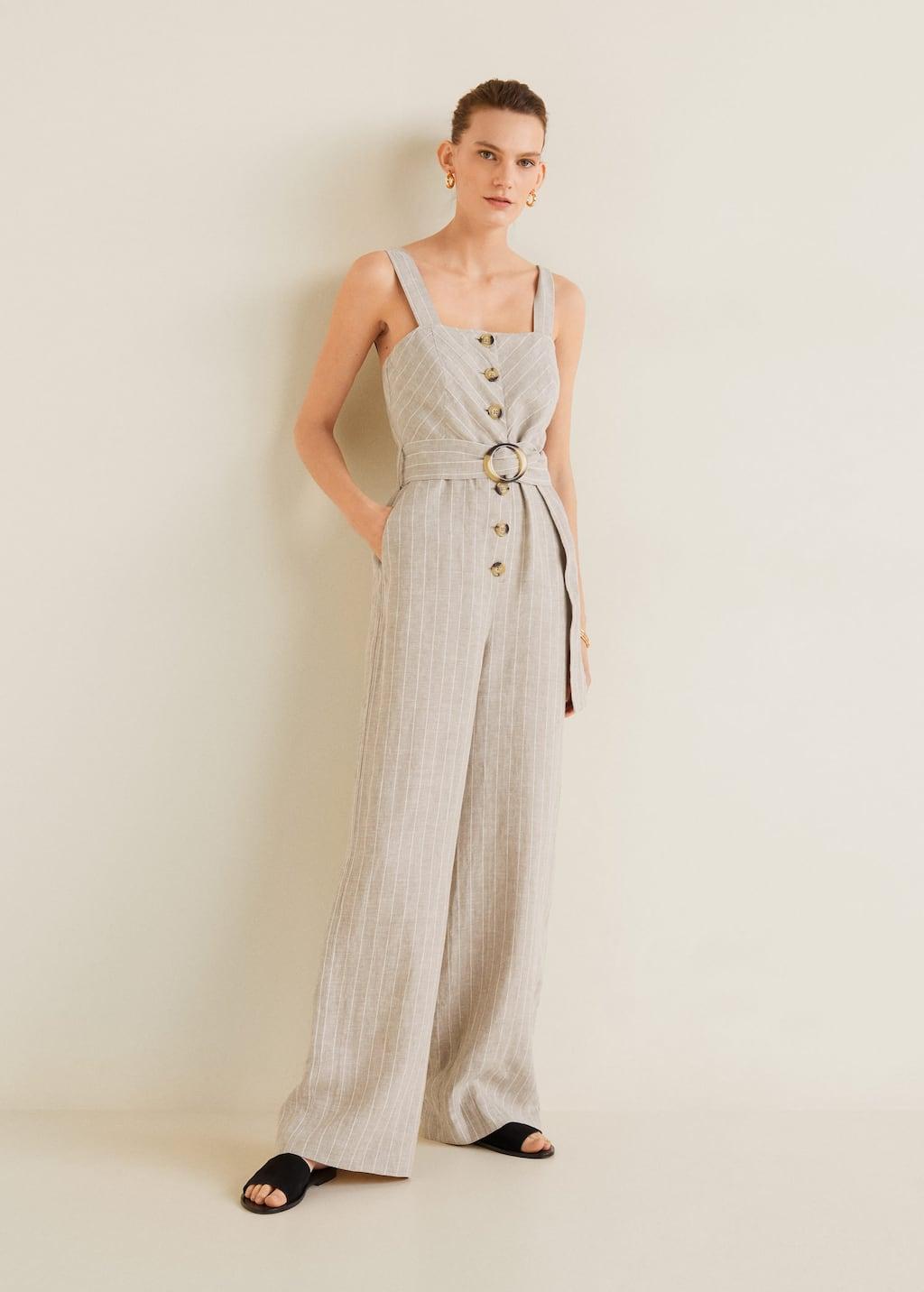 Long linen jumpsuit