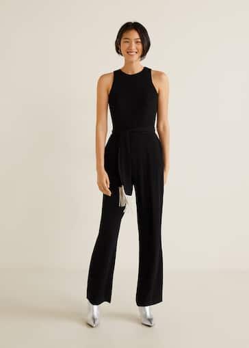 cdecd75a1fad Frayed bow jumpsuit - Woman