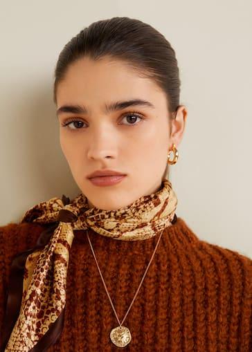Foulard imprimé serpent - Femme   MANGO Algérie e1fa6df71f3