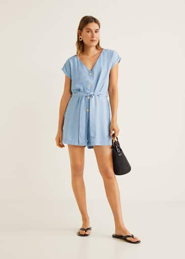 Nieuw Soft buttoned jumpsuit - Woman | Mango Canada JI-64