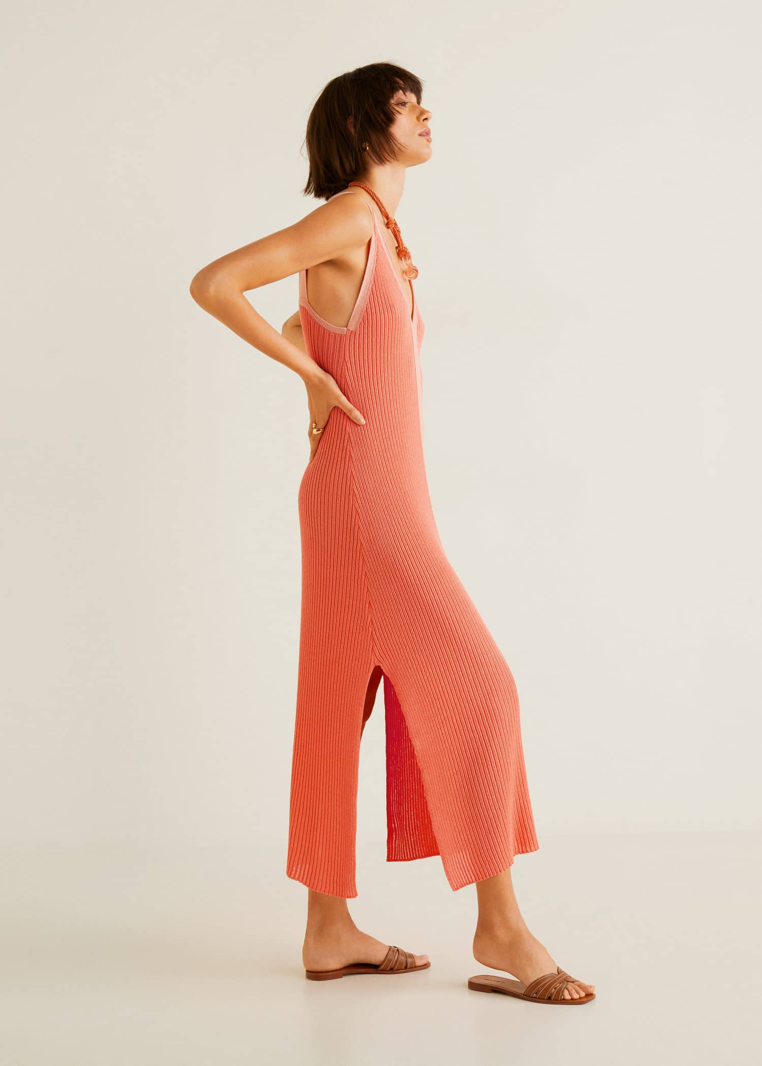 Finland Bodice WomanMango Contrast Jersey Dress DI2YeWEH9b
