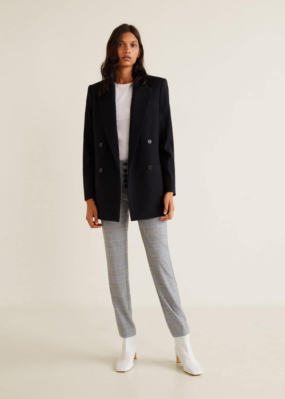 Mango - Buttons cotton trousers - 2