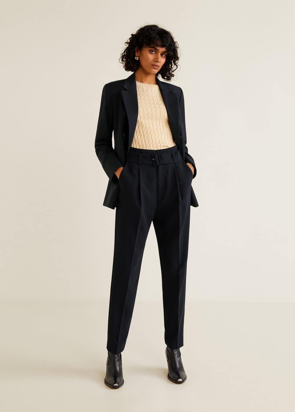 Mango - Belt high-waist trousers - 2