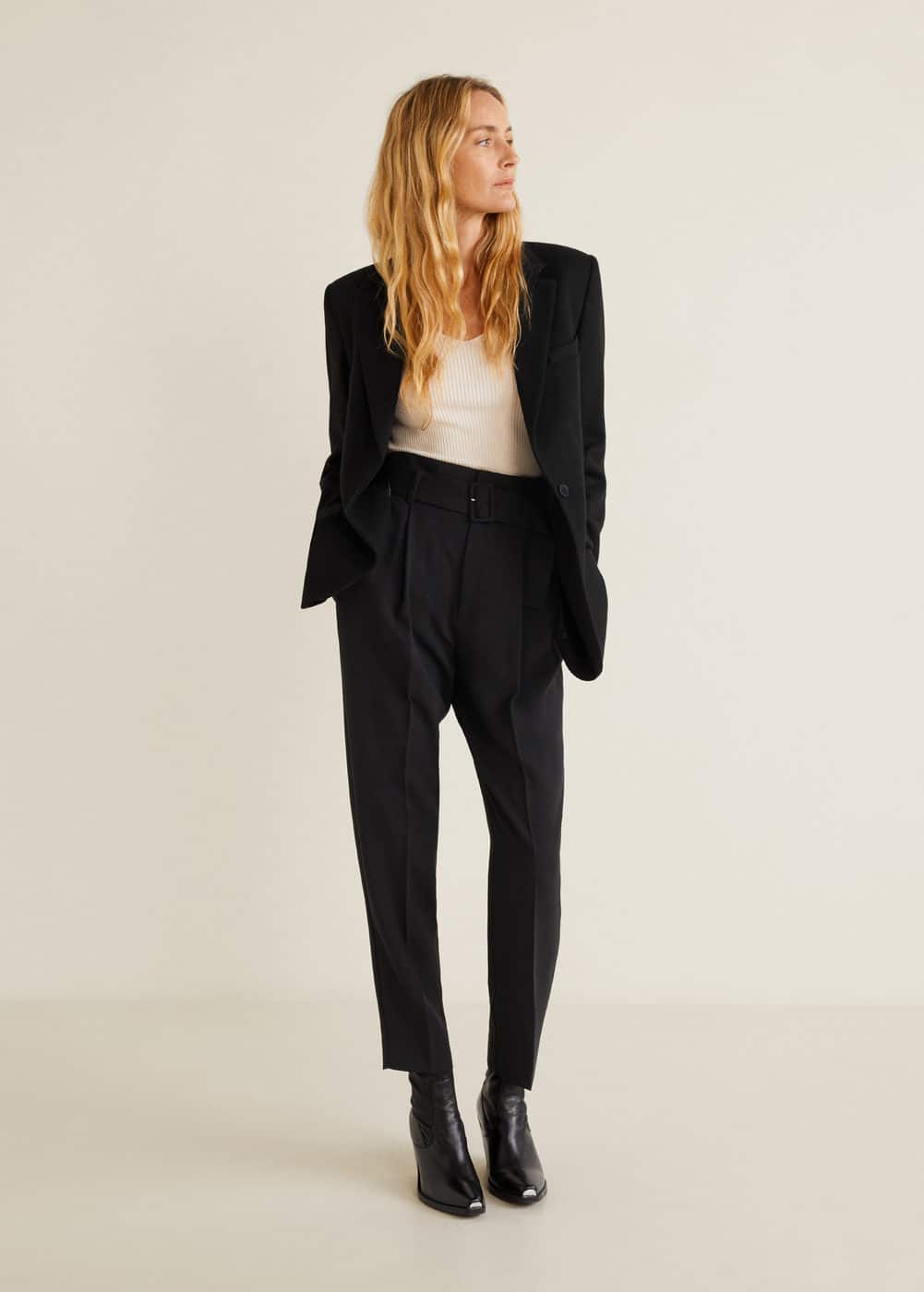 Mango - Belt high-waist trousers - 2