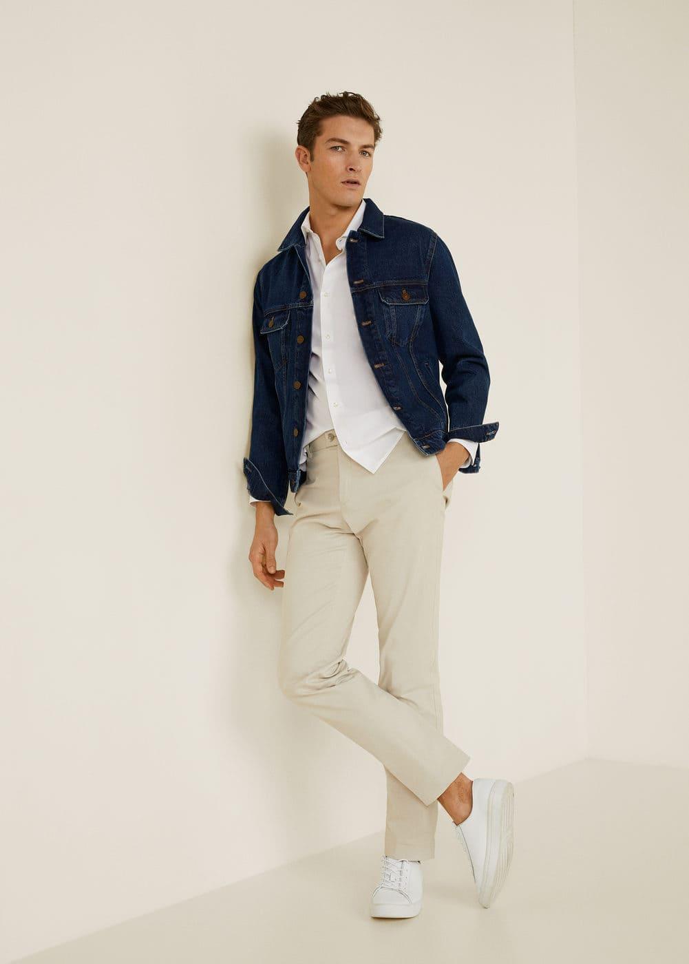 Mango - Camisa slim-fit algodón - 2
