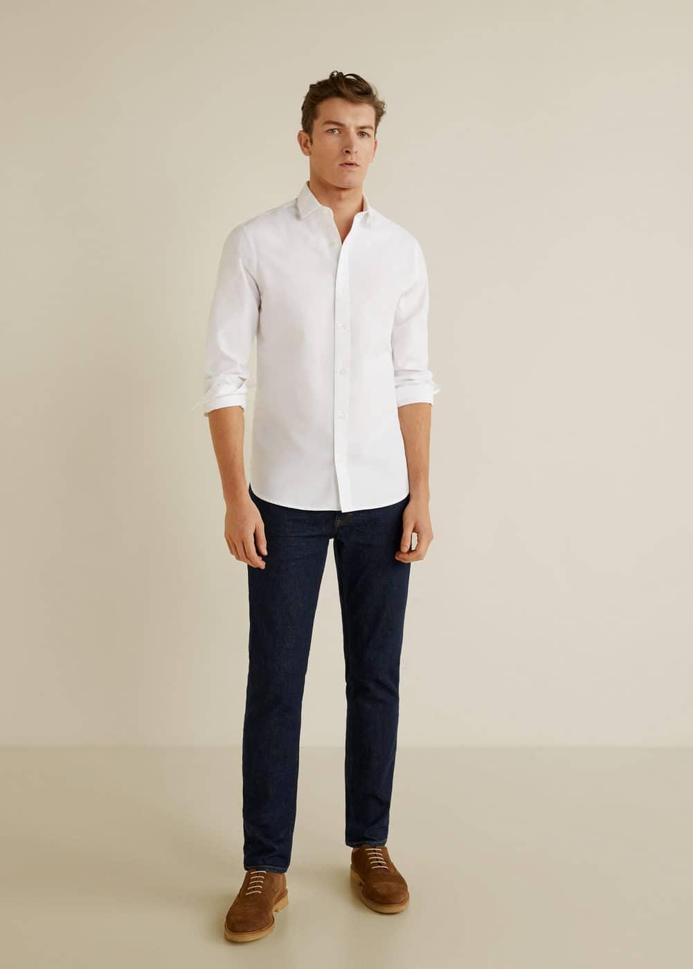 Mango - Camisa slim-fit estructura rayas - 2