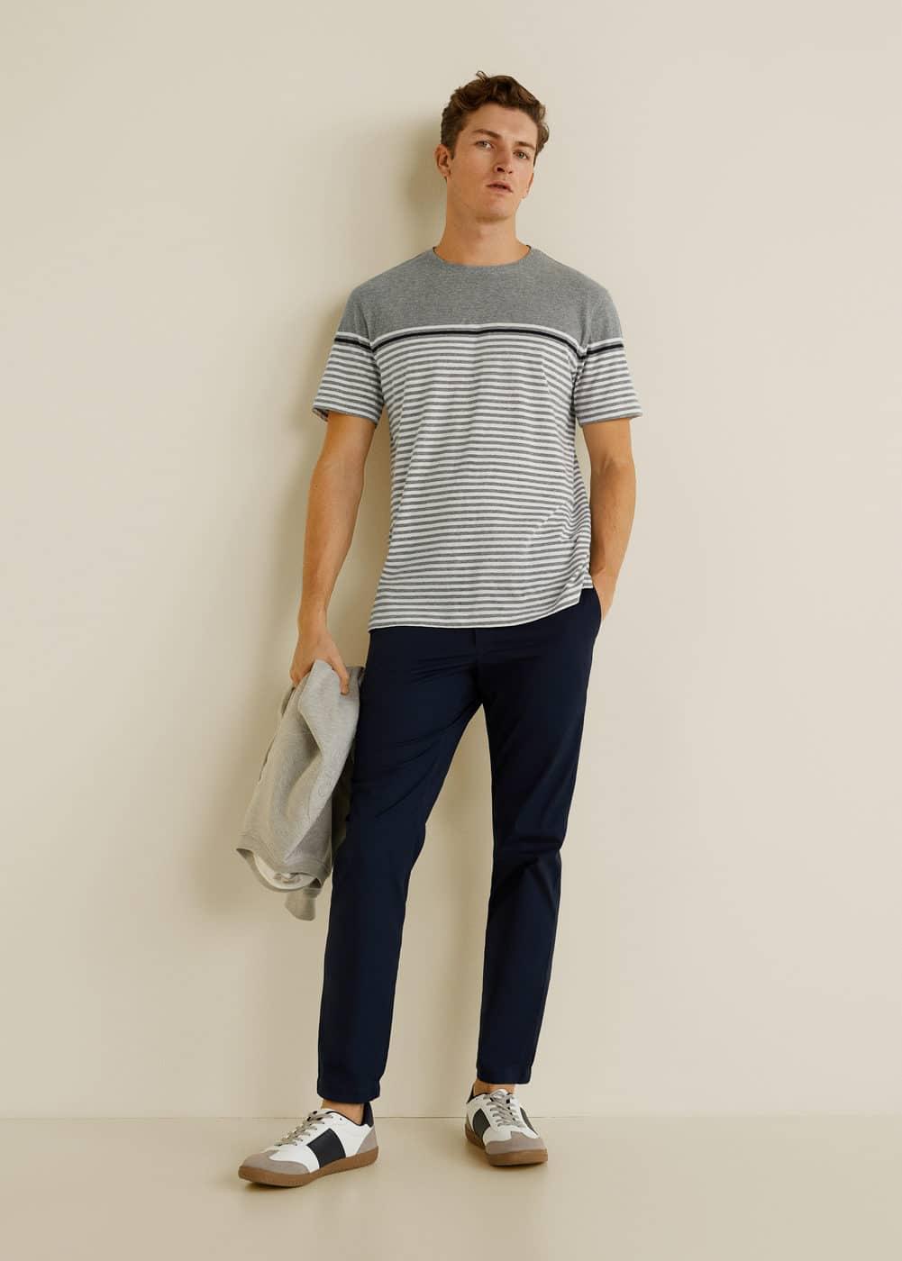 Mango - T-shirt coton à rayures - 1