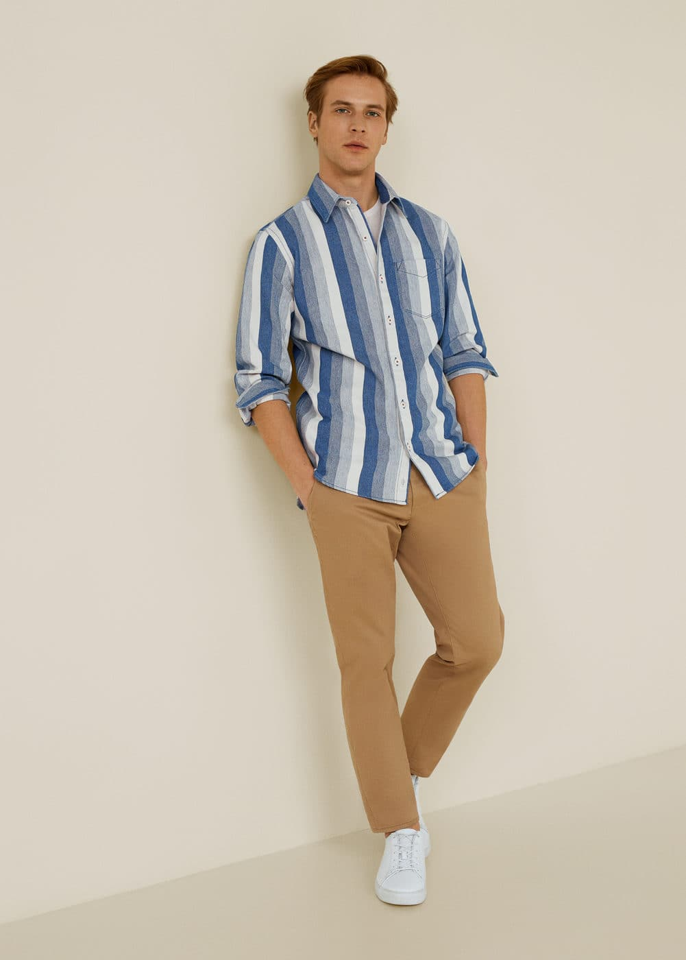 Mango - Relaxed-fit striped overshirt - 2