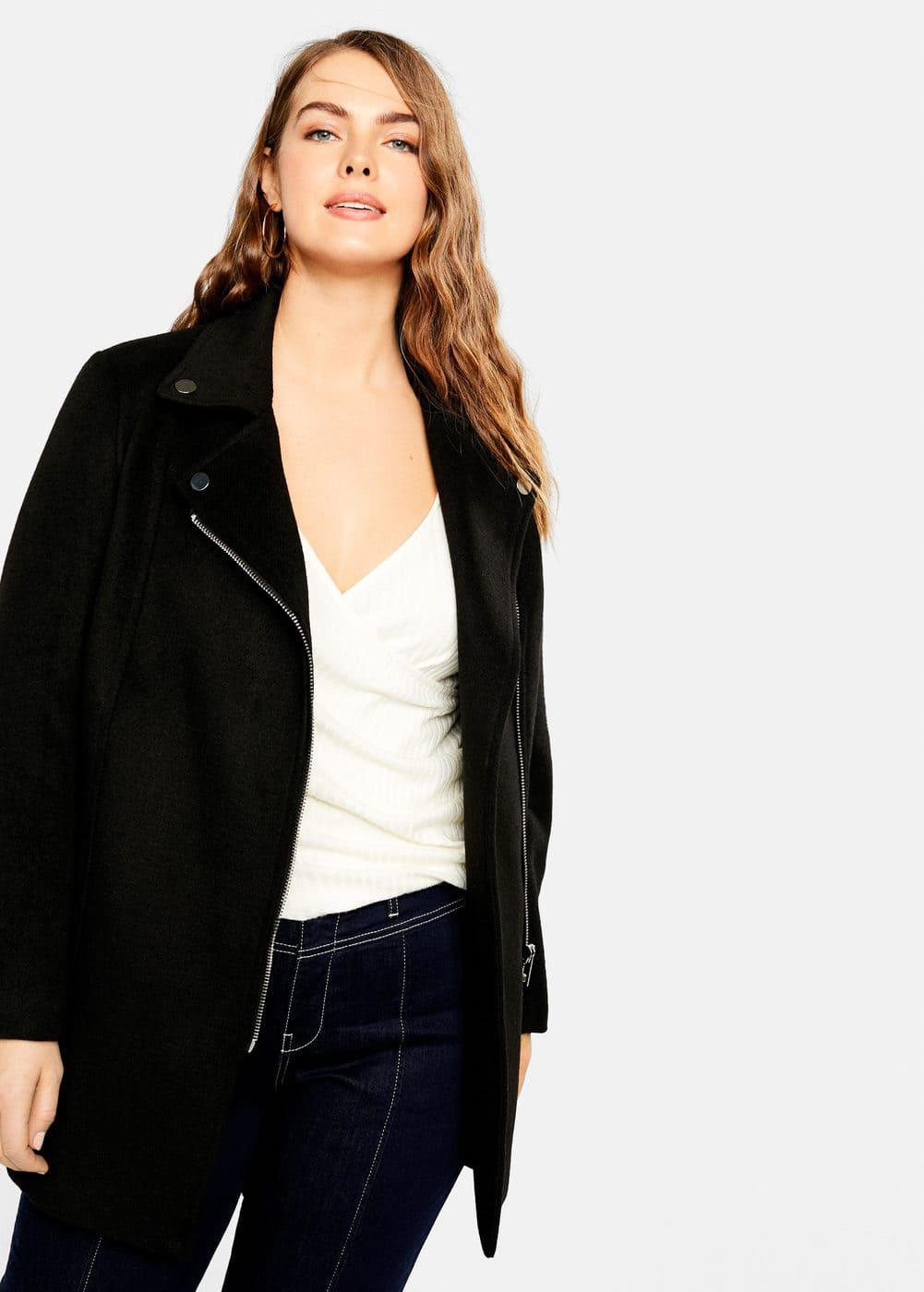 Mango - Side-zip straight-cut coat - 1