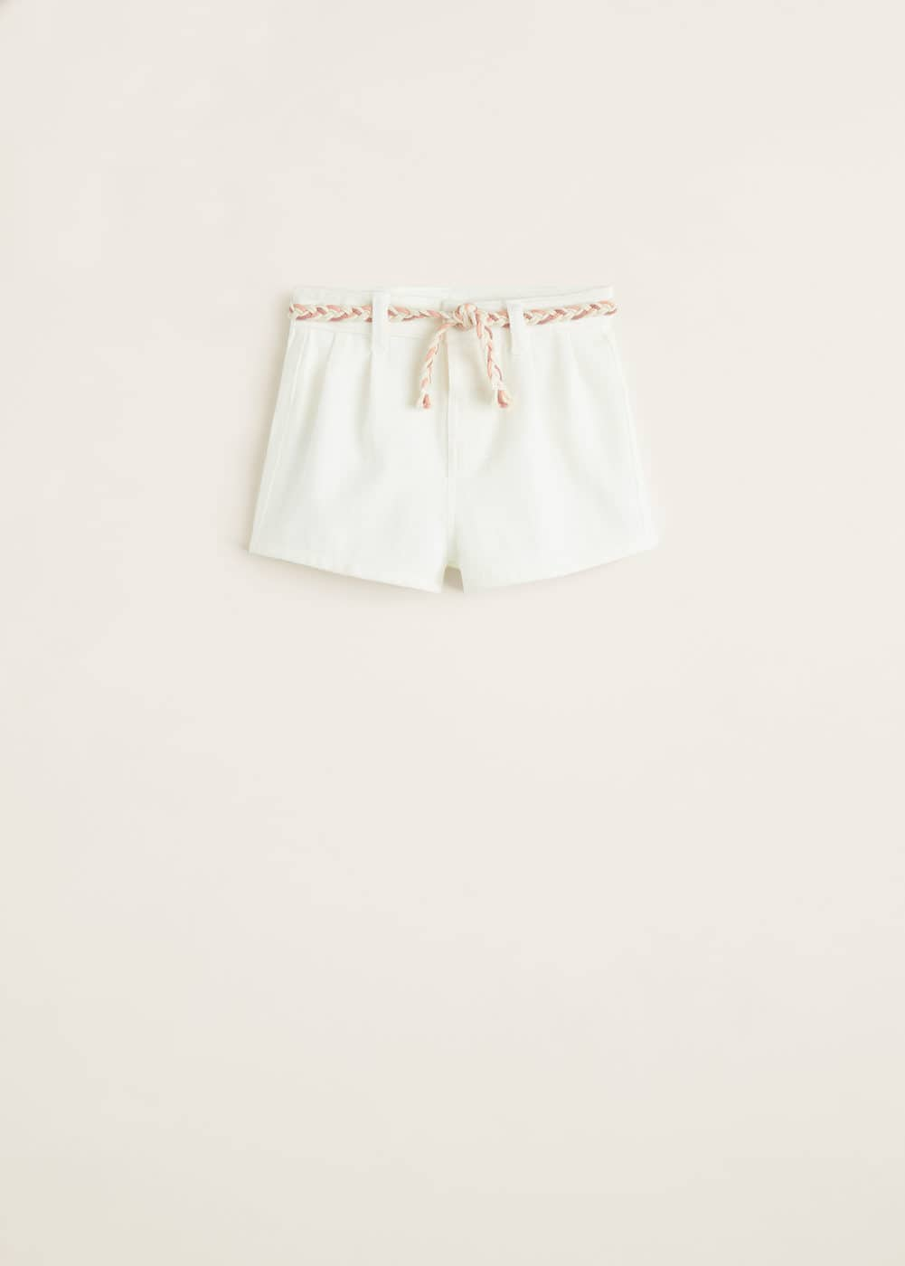 Mango - White denim shorts - 1