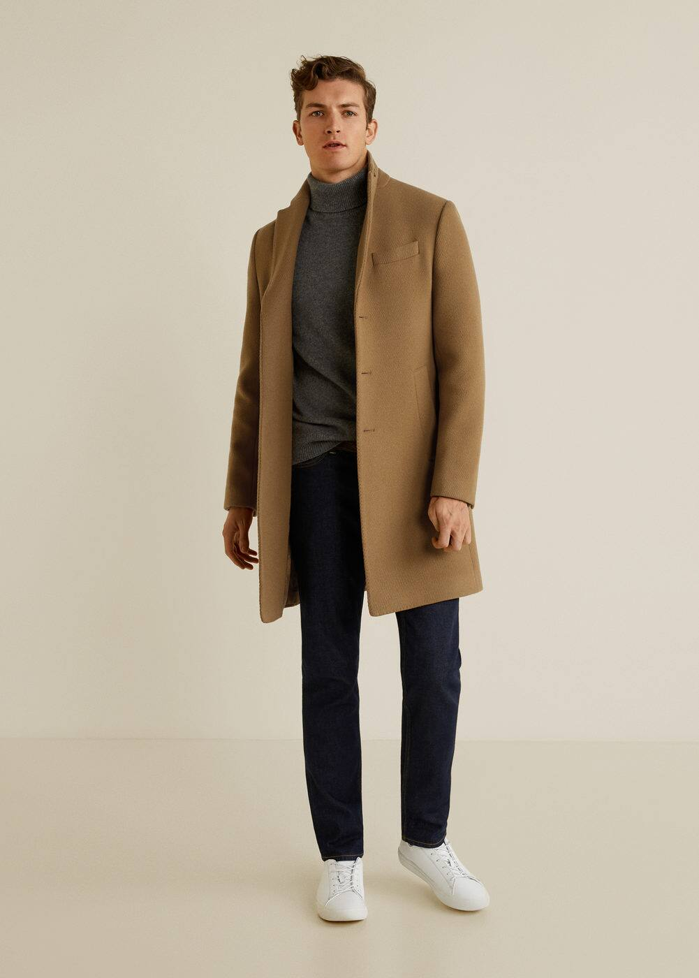 Mango - Structured virgin wool coat - 2