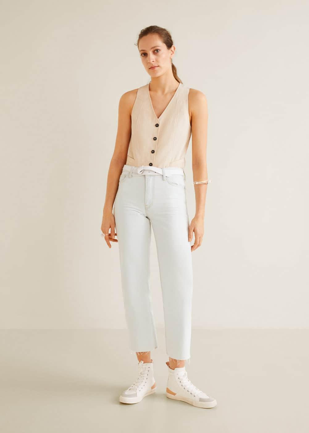 Cropped Cropped WomenMango Jeans Usa Straight Straight 34Aj5LRq