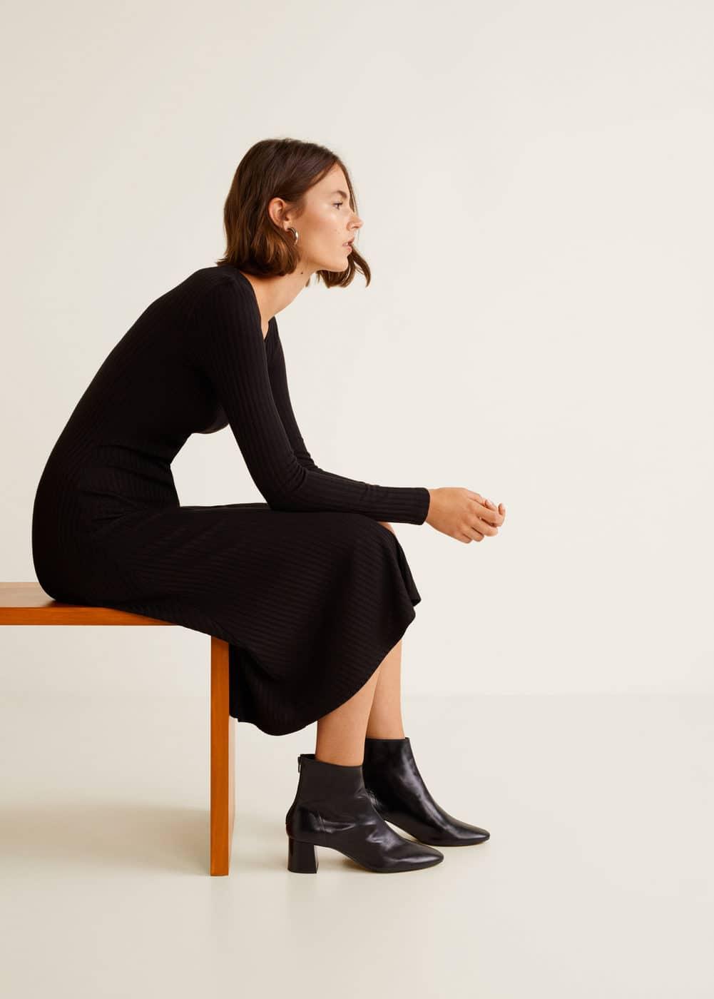 Mango - Heel leather ankle boot - 1