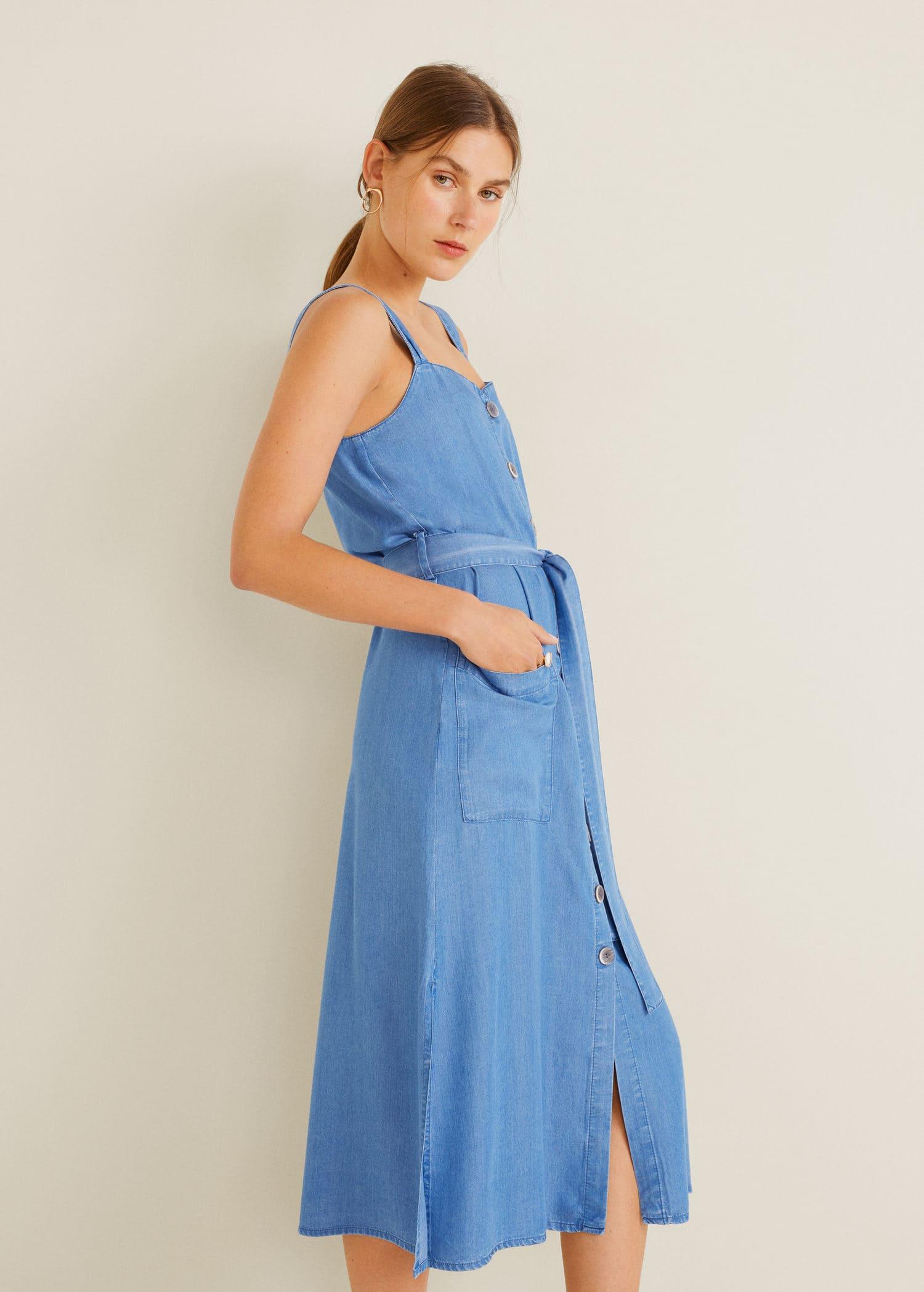 Denim style soft dress Woman | MNG Australia