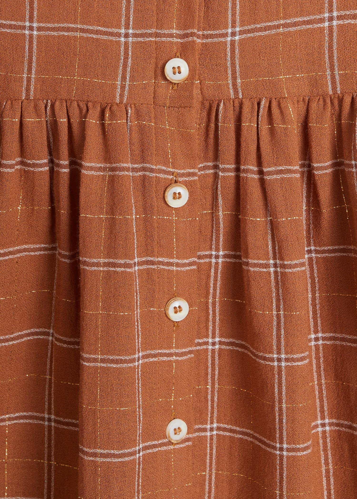 Rutete bluse i bomull Skjorter Store størrelser | OUTLET Norge