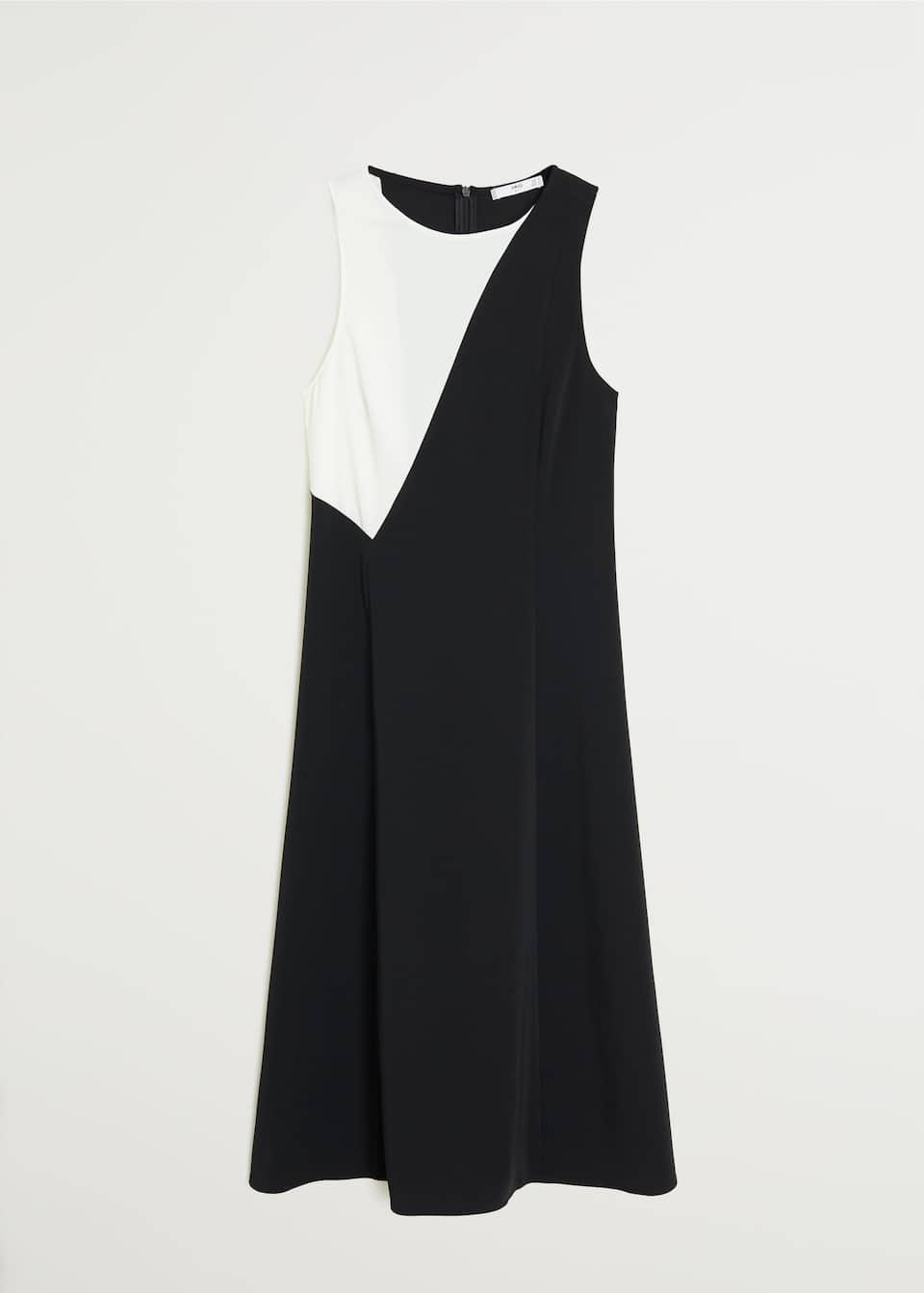 monochrome textured dress - f fomidi woman | mango slovakia