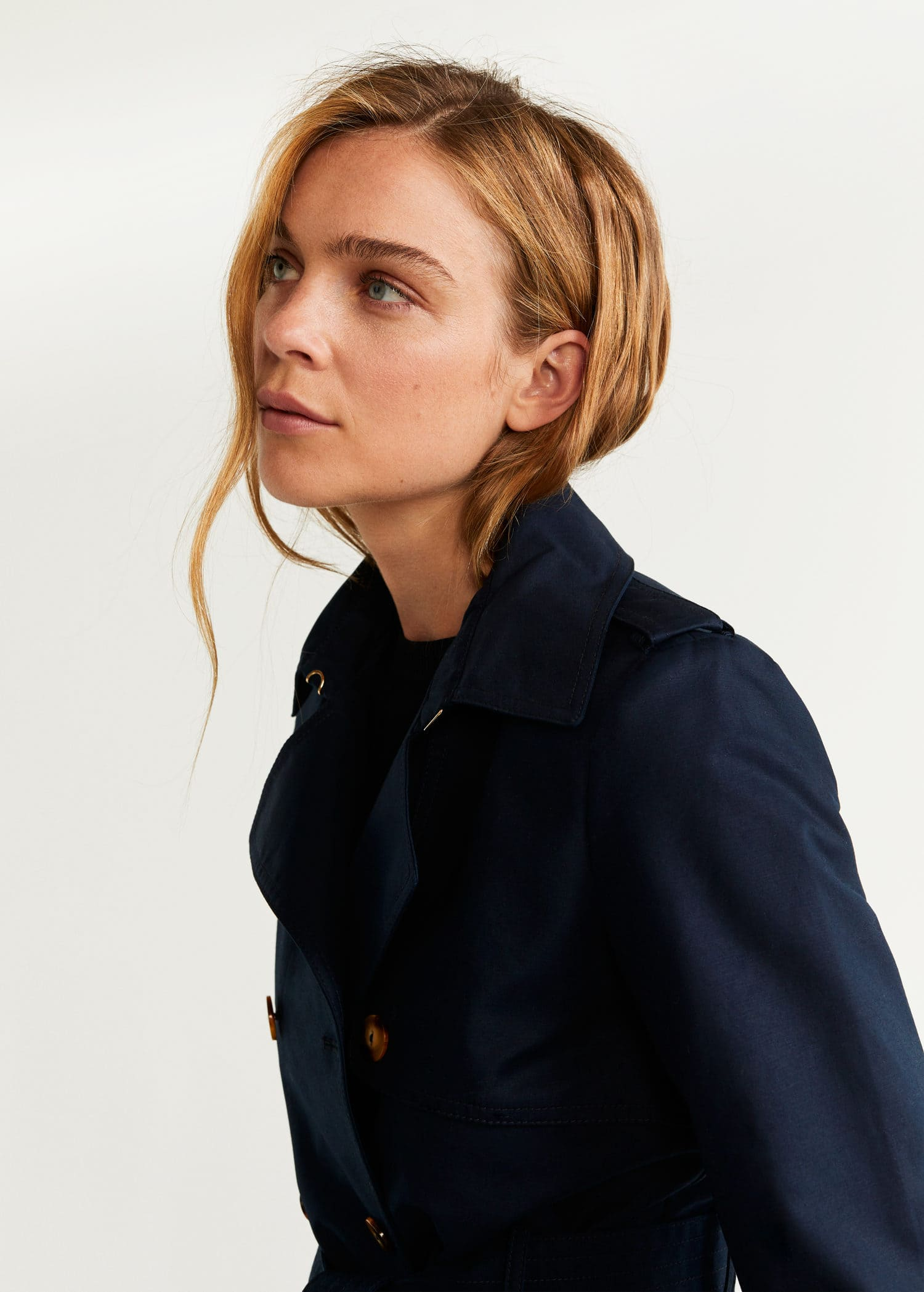 Double breasted trench Woman | Mango Ireland