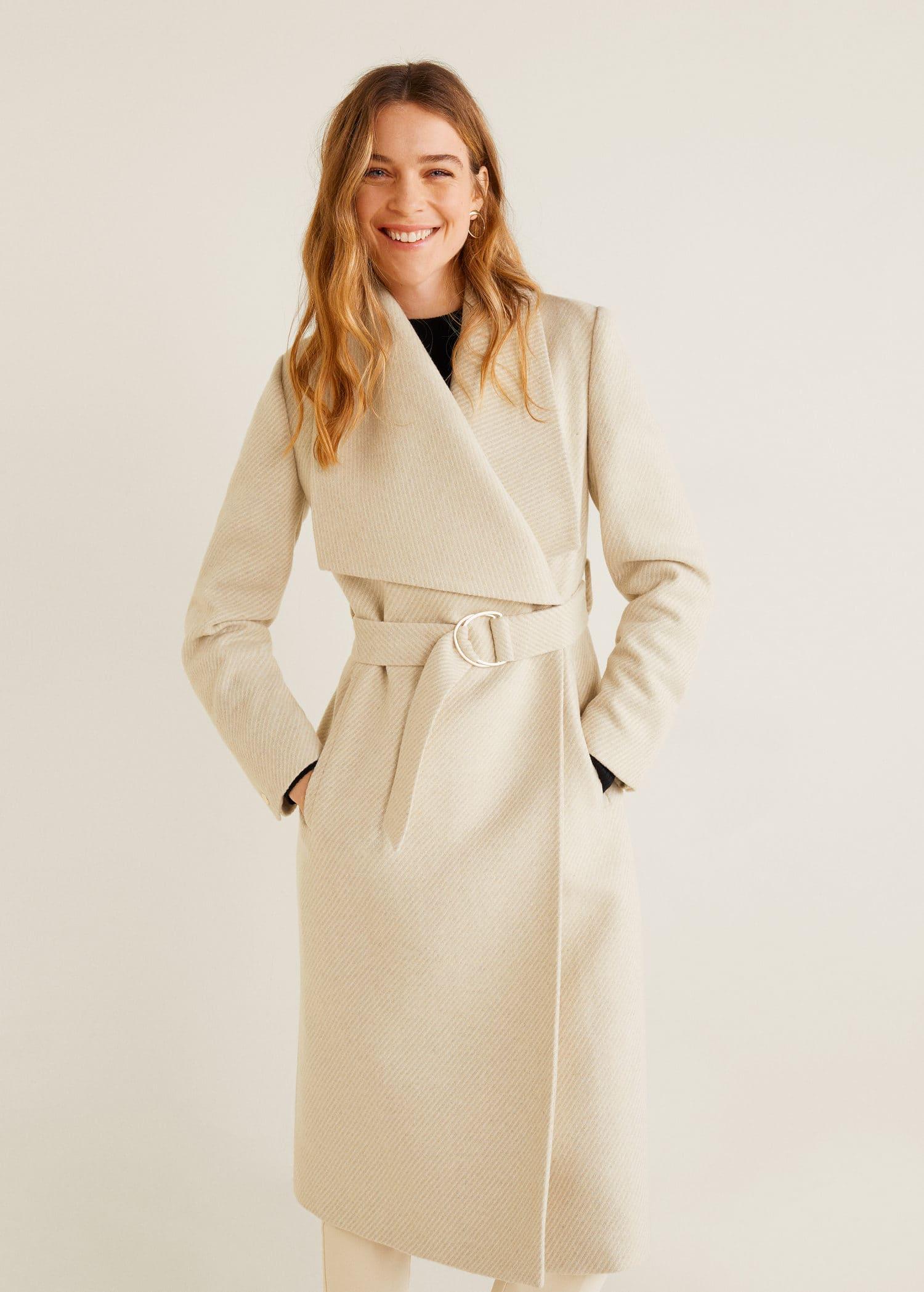 Sobretudo lã maxilapelas Mulher de 2020 | Casacos para