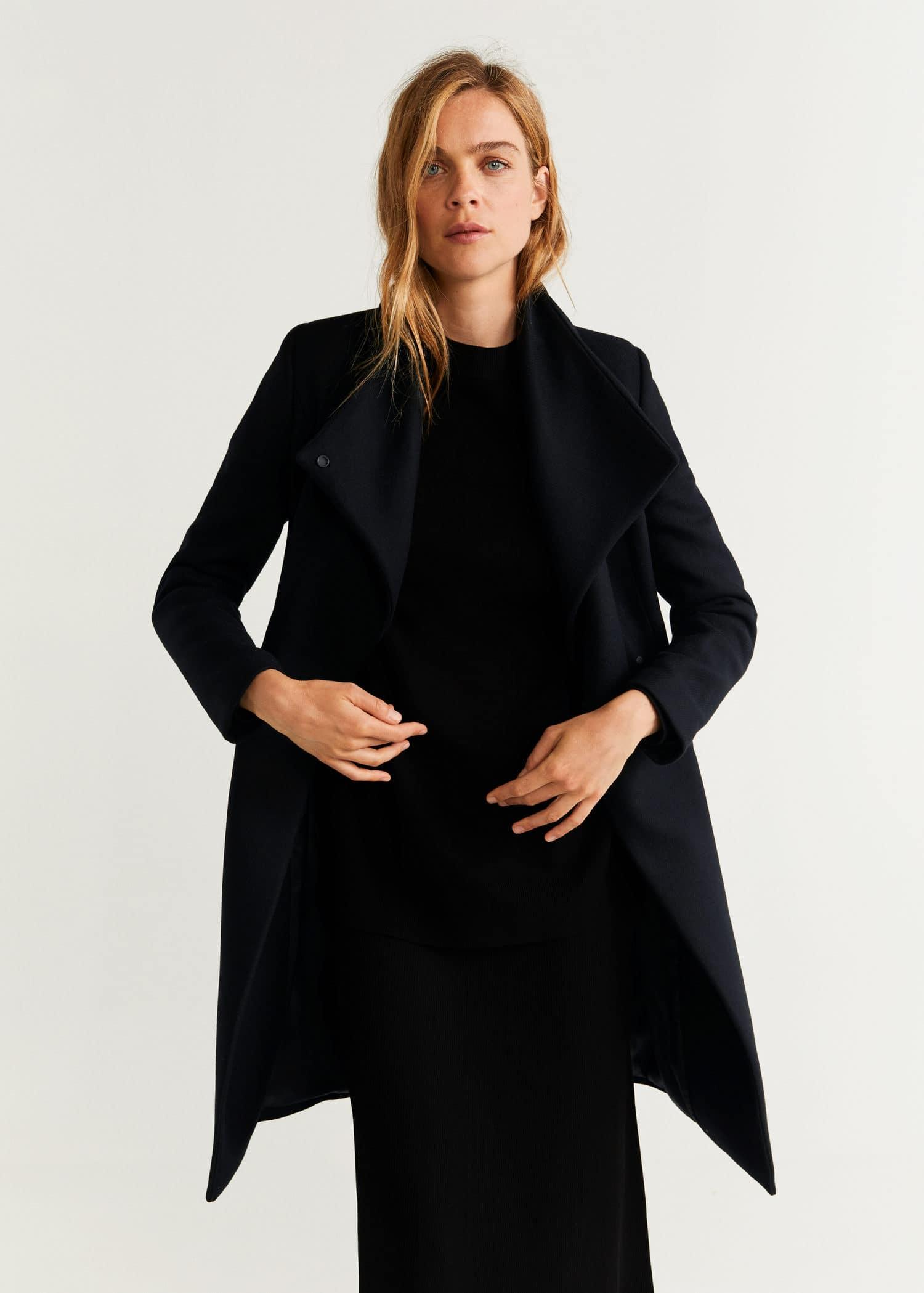 Wollen jas met kettingdetail Dames | OUTLET Nederland