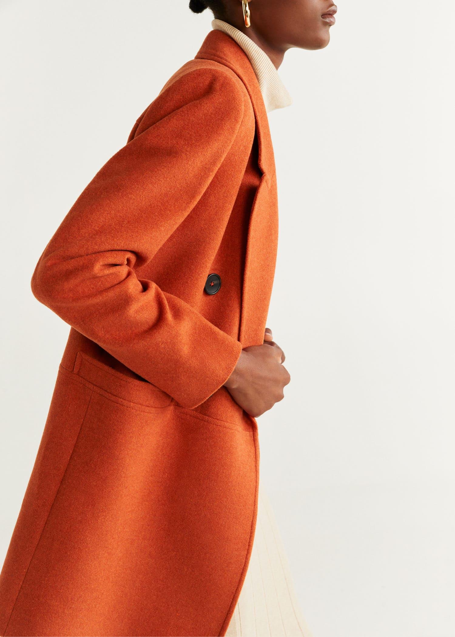 Structured wool coat Woman | Mango Ireland