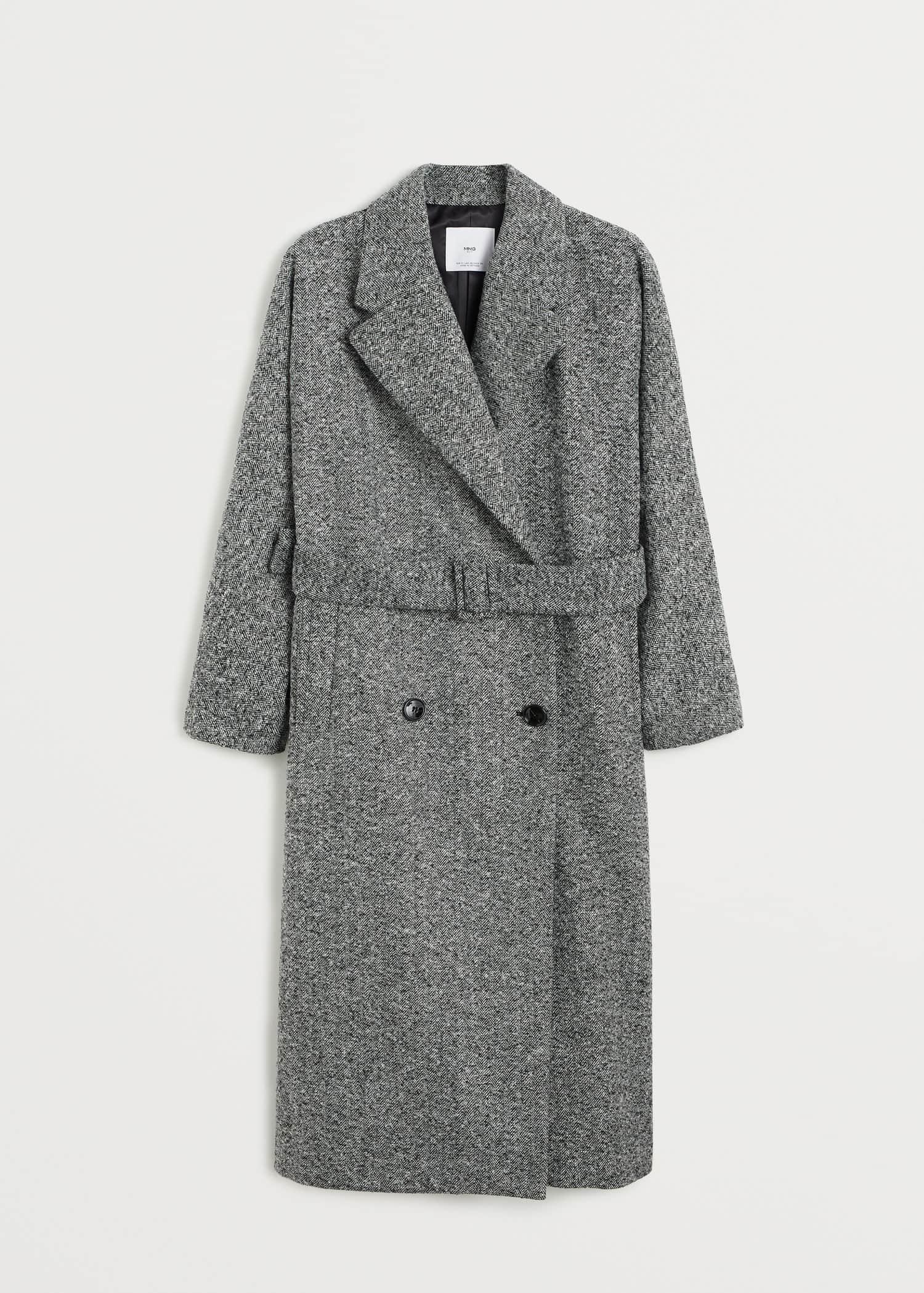 Abrigo lana estructurado Mujer | MNG Colombia