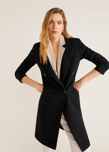 más popular vista previa de aliexpress Structured wool coat