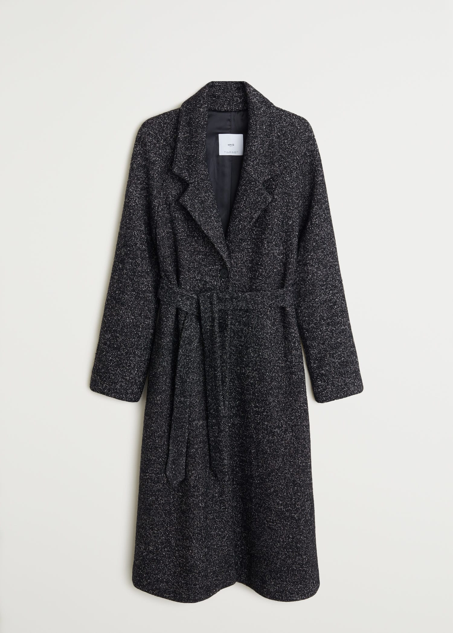 WomenMango USA Belted wool Belted coat CxBWrode