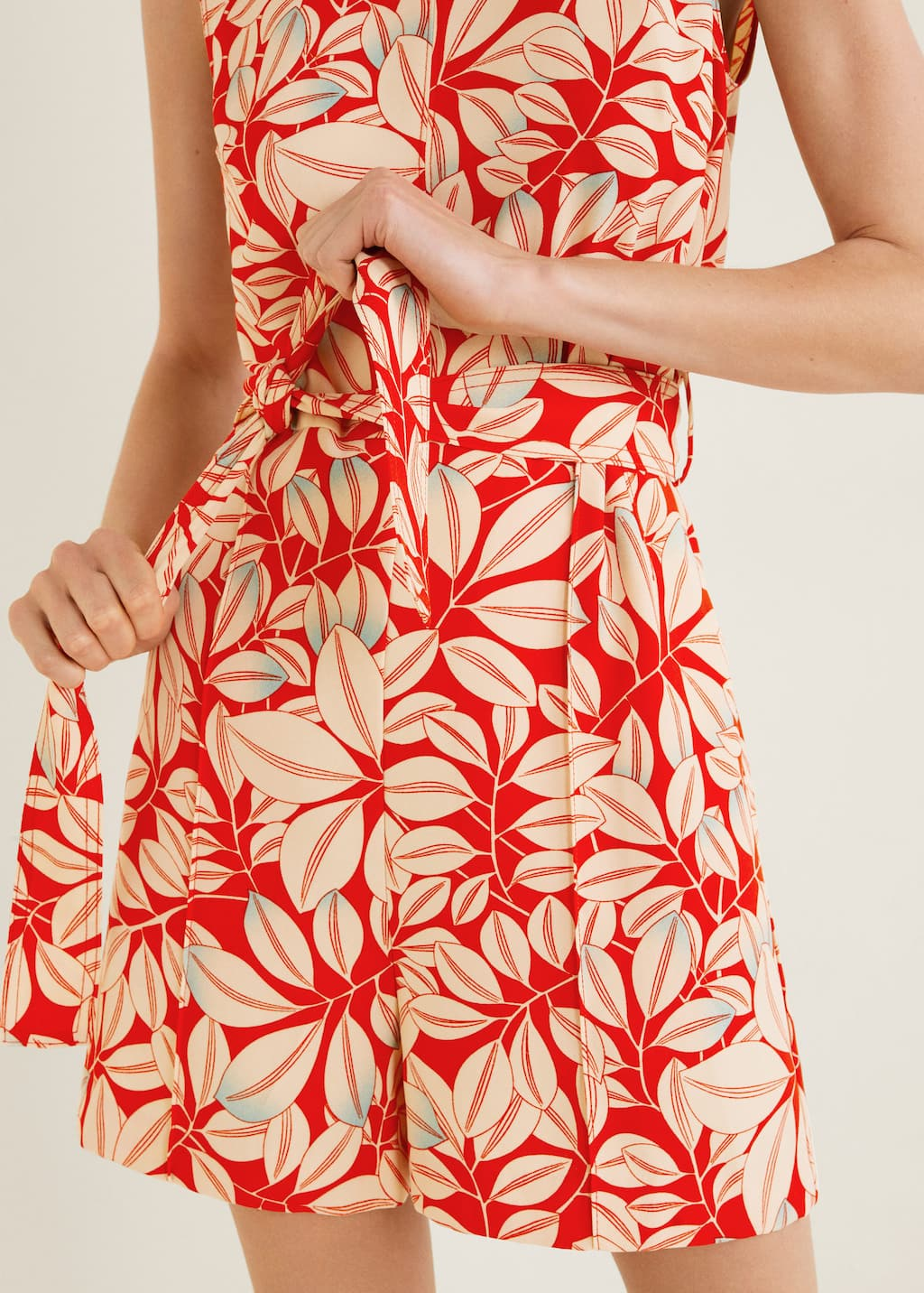 grande Incredibile Presto  Floral short jumpsuit - Woman | Mango Estonia