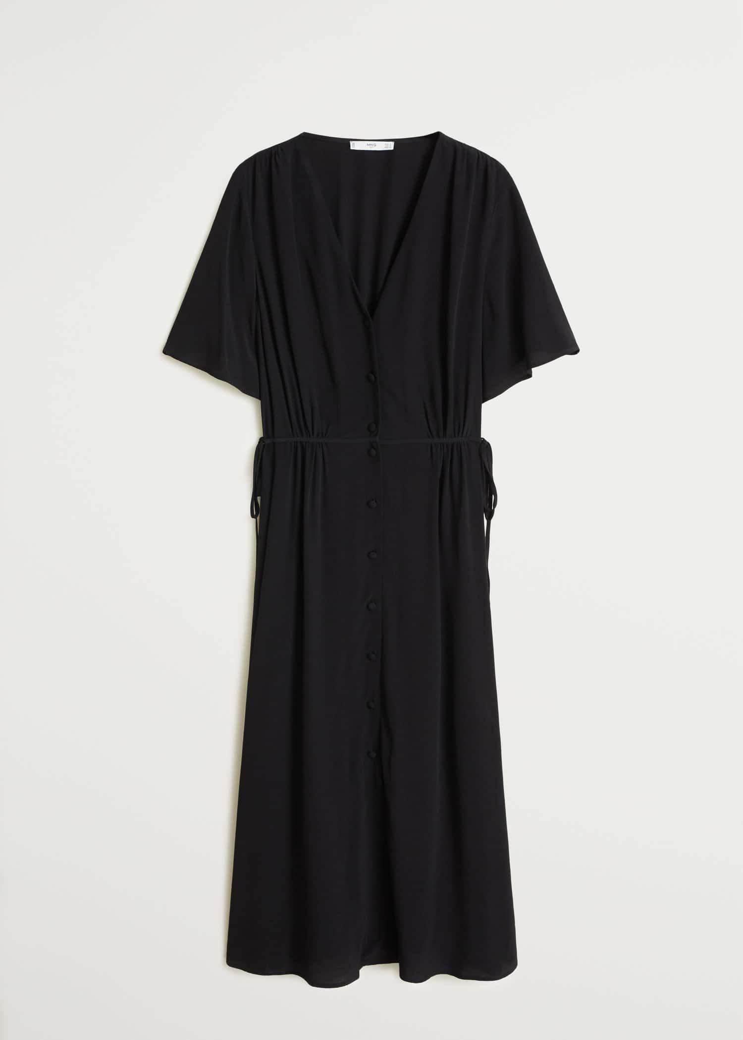 minimum Leder jacke, Minimum plissiertes midi kleid schwarz