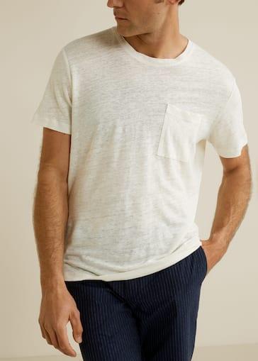 aacbd2b808 Pocket linen-blend t-shirt - Medium plane