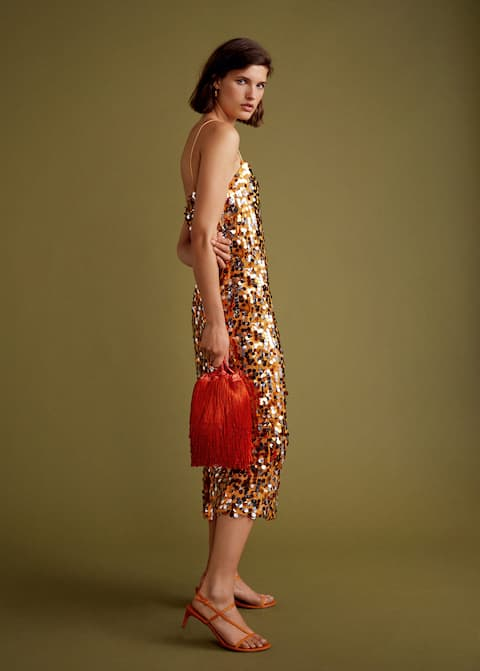 Sequined midi dress - Details of the article 5