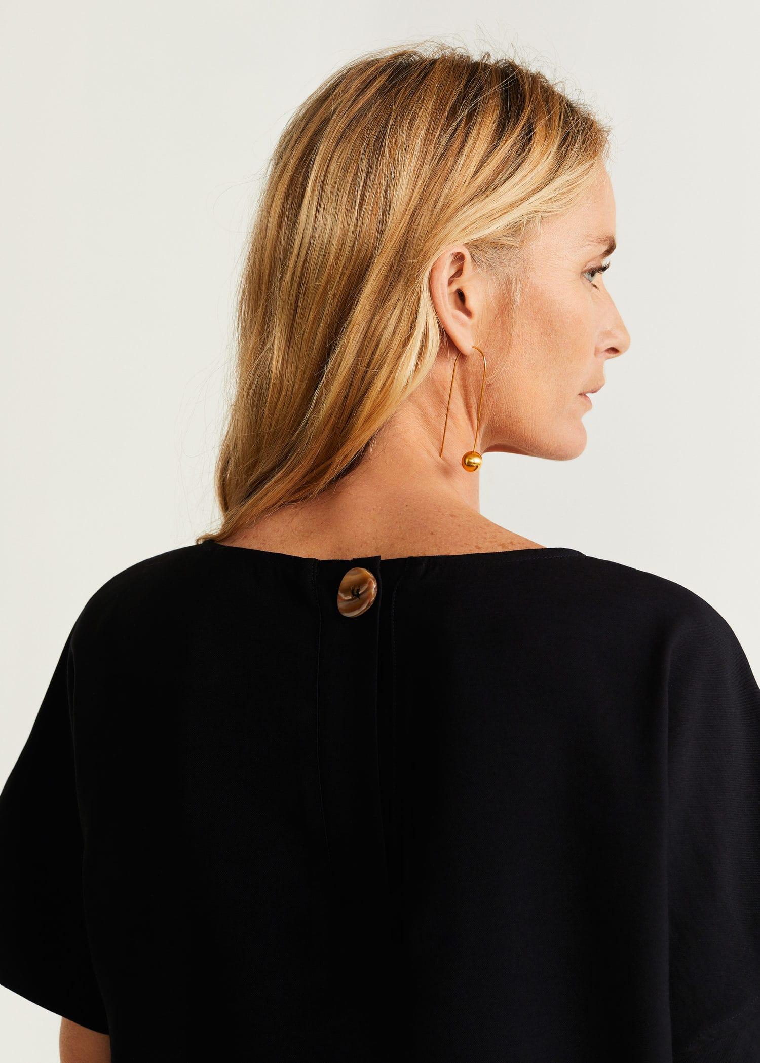 Vestido botón espalda