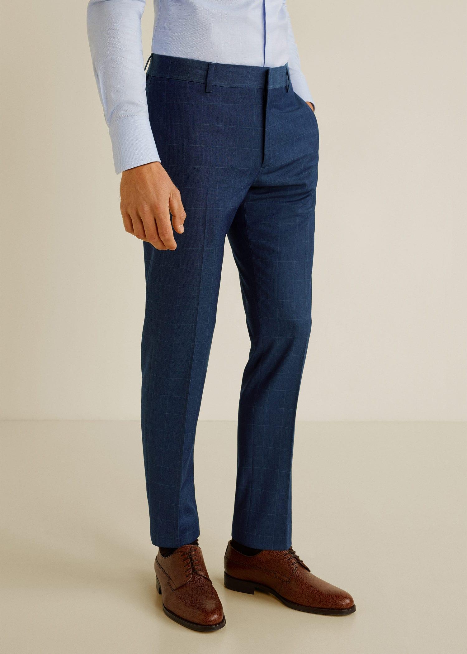 Pantalon costume super slim fit carreaux Homme | Mango Man