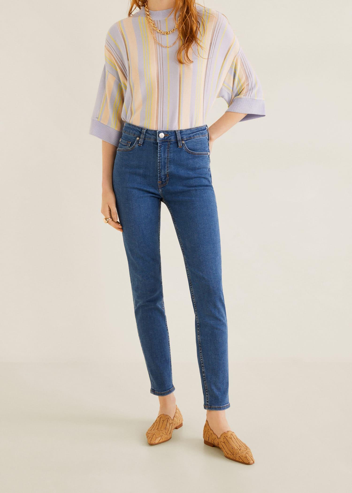 Mango Noa Sky Blue Skinny Jeans Women/'s High Waist Jeans Size 6