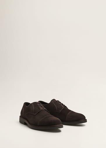 c85554438 Sapato blucher de pele croûte - Plano médio